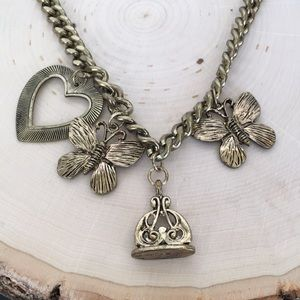 Victoria's Secret Heart Bronze Necklace